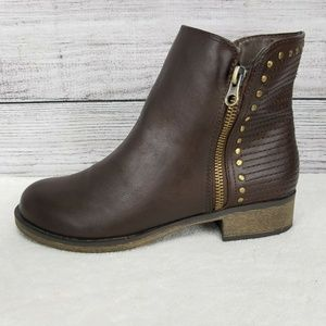 FERGIE EMBODY Studded Fashion Booties Ankle Boots